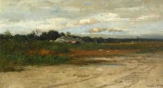 """""""Dartmouth Backroad,"""" Robert Swain Gifford, oil, private collection."""