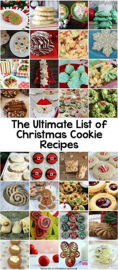 The ultimate list of over 80 Christmas cookie recipe categorized by theme and flavour. So many tasty and easy Christmas cookie ideas for holiday cookie swaps, christmas parties and the holiday season