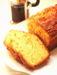 Kumquat Marmalade Loaf Cake - I made Kumquat Nastoyka with the recipe from PetersFoodAdventures, which turned out to be very refreshing and tasty liqueur 4 weeks later :-9 I didn't want to waste the fruit and the skin, so I mad...