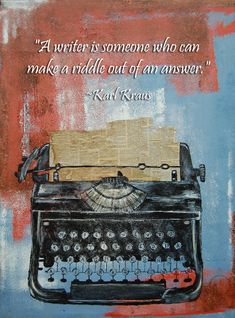Type Writer by SeasickMe on DeviantArt Writing Classes, Riddles, How To Plan, How To Make, Things To Think About, Deviantart, Typewriters, Junk Journal, Organization