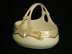 Vintage Limoges Basket for your trinkets or rings Sign Ewing 1960
