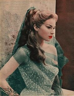 Portrait of Silvana Mangano for Ulisse directed by Mario Camerini, 1954