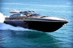 One hundred Yacht. The 31m One hundred is fast at 7,290 hp she can reach a top speed of 50 knots.