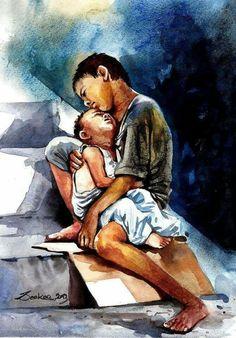 Watercolor Paintings Nature, Watercolor Paintings For Beginners, Indian Art Paintings, Realistic Paintings, Watercolor Portraits, Watercolours, Indian Art Gallery, Composition Painting, India Painting
