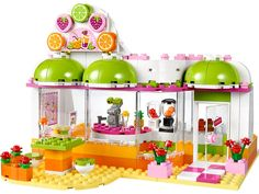 LEGO Friends - Heartlake Juice Bar and thousands more of the very best toys at Fat Brain Toys. Heartlake Juice Bar is the place to be! Gorgeous fruit-filled store front with spacious patio is an invitation for fruity fun.