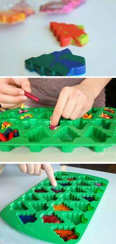 Holiday Crayons | 20+ DIY Christmas Gifts for Kids to Make