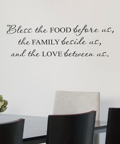 This would be a great quote to do on a window wall decor.  'The Family Beside Us' Decal//