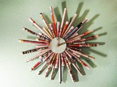 DIY - Junk Mail Starburst Clock