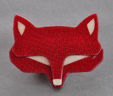 LEA STEIN FOX HEAD BROOCH
