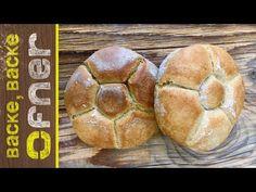 Rezept ergibt ca. 9 Stk a` Buffet, Bread, Breakfast, Youtube, Food, Bread Baking, Recipies, Morning Coffee, Brot