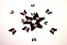 Die Cut Flower ButterfliesWall Decor3d by MyDreamDecors on Etsy, $18.50