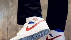 Air Jordans, Jordans Sneakers, Shoes Sneakers, Red Basketball Shoes, Cheap Jordan Shoes, Jordan Fashions, Sneakers Street Style, Hype Shoes, Jordan 1 Mid