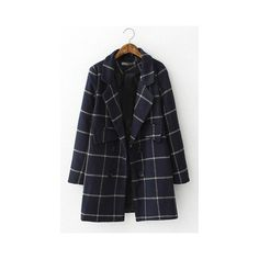 2a3a027192 ... the north face nuptse jacket international south korean and depop d1f62  5aea2  Classy Plaid Winter Coat (56) ❤ liked on Polyvore featuring  outerwear