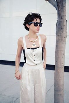 dressed-up overalls