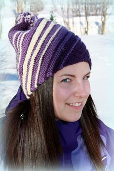 Lenashobbyblogg: Strikkeluer Knitted Hats, Beanie, Knitting, Fashion, Moda, Tricot, Fashion Styles, Knit Caps, Cast On Knitting