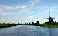 The Serene Beauty of Holland's Kinderdijk Windmills