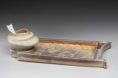 Marion Angelica, Trapezoidal Tray with Servers and Spoon Handbuilt Grolleg Porcelain. Ceramic Boxes, Ceramic Spoons, Ceramic Plates, Plates And Bowls, Porcelain, Pottery, Ceramics, Trays, Minneapolis