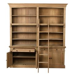 Library Bookcase W/Ladder               _1