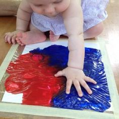 Art for Babies: No-mess tactile activities/sensory experiences for babies ages 0-2 that can be incorporated into baby storytimes.