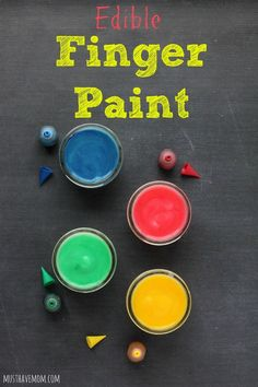 DIY Edible Finger Paint Recipe For Babies and Toddlers! Dries on paper and is safe to ingest if baby takes a taste! #PurellWipes #ad