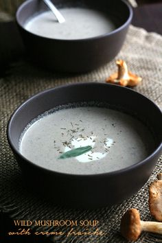 Velvety low carb mushroom soup made creamy and filling with creme fraiche. Warm up!