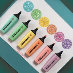 Stabilo Boss Highlighter Pen - Pastel Markers Stationery New 1 SET= Cool School Supplies, Craft Supplies, Kalender Design, Cute Stationary, Stabilo Boss, Cute Pens, School Stationery, School Organization, Bullet Journal Inspiration