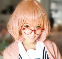 New! Kyokai no Kanata Kuriyama Mirai Anime Short Cosplay wig