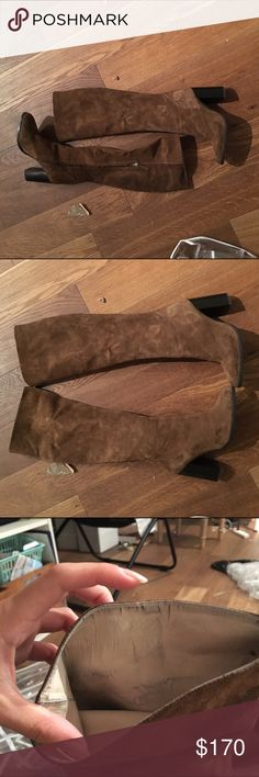 Zara heeled tall boot size 40 Only worn once tall Zara authentic suede boot in size 40. Essentially new. Zara Shoes Over the Knee Boots