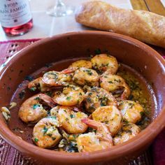 Mouthwatering Spanish inspired shrimp in a rich garlic sauce. Don't forget the crusty bread to soak up the garlicky goodness.