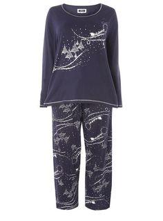 Pinterest Uk Size 16, Cotton Pyjamas, Pajama Set, Evans, Navy Blue, Scene, Long Sleeve, Model, How To Wear