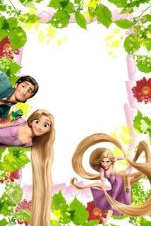 * Rapunzel Birthday Party, Tangled Party, Disney Rapunzel, Frames Png, Scrapbook Da Disney, Disney Frames, Boarders And Frames, Disney Printables, Easter Printables