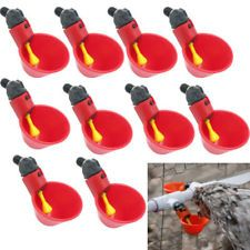 10 Pack Poultry Water Drinking Cups Chicken Hen Plastic Automatic Drinker USA