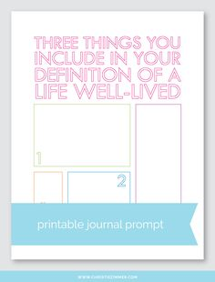 Life Well Lived printable guided journal page by Christie Zimmer My Journal, Journal Prompts, Journal Pages, Writing Prompts, Art Journals, Bullet Journal, Reflective Practice, Social Skills Activities, Summer Fun List