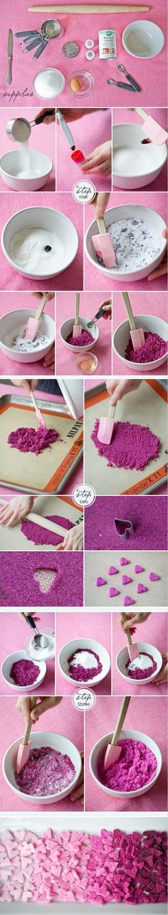 DIY sugar hearts! so cute on top of a cupcake ♥Click and Like our Facebook page♥