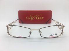 43341536bf94 CAVIAR M1914 C21 53-18-135 Austrian Crystals EYEGLASSES Frames RARE WITH  CASE