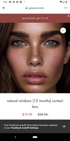 Colored Contacts, Lenses, Make Up, Tinted Contact Lenses, Colored Eye Contacts, Makeup, Beauty Makeup, Bronzer Makeup