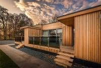 Siberian Larch (SILA) is a popular timber cladding choice for its aesthetic beauty, excellent durability, high density & impressive lifespan. Larch Cladding, Aesthetic Beauty, Exterior, Cabin, Timber Products, Architecture, House Styles, Outdoor Decor, Decking