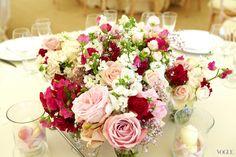 gorgeous classic rose centerpiece