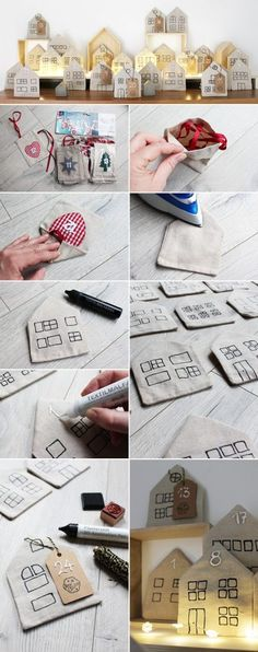 My advent calendar consists of 24 little houses made out of paper do it yourself adventsstadt aus adventskalender basteln solutioingenieria Gallery