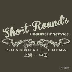 Short Round's Chauffeur Service, Indiana Jones Tee