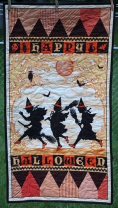 Halloween Witches Door Hanging Table Runner by RedButtonQuilting, $50.00
