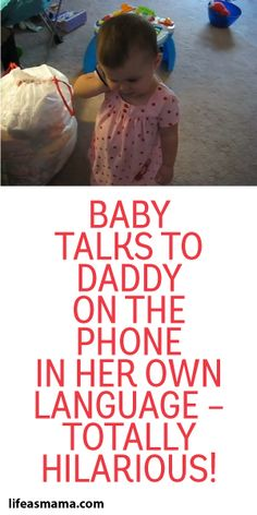 Baby Talks To Daddy On The Phone In her Own Language - Totally Hilarious!