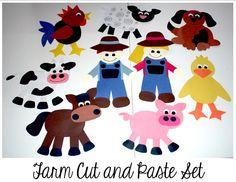 Farm Cut And Paste Set