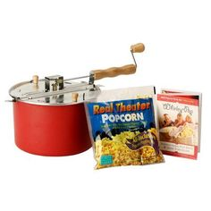 Wabash Valley Farms Whirley Pop Stovetop Popcorn Popper Color: Red