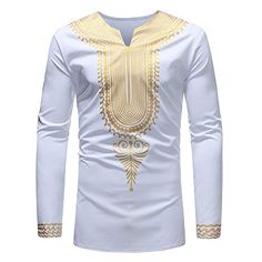 Ericdress African Fashion Dashiki Print Mens Casual T Shirts African Shirts For Men, African Dresses Men, African Attire For Men, African Clothing For Men, African Wear, African Outfits, Dashiki For Men, African Dashiki, Nigerian Men Fashion
