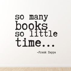 """Vinyl Wall Sticker Decal - So Many Books So Little Time - 24"""" x 22"""" op Etsy, 21,99€"""