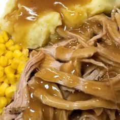 Trisha Yearwood rsquo s Crock Pot Pork Tenderloin Spoon tender and SO tasty!Perfect with mashed potatoes on a sandwich and just deelish for finger pickin! But what set this recipe above the others was the gravy! It is over the moon good! Pork Tenderloin Recipes, Pork Loin, Pork Recipes, Crockpot Recipes, Cooking Recipes, Recipies, Roast Brisket, Pork Tenderloins, Recipes