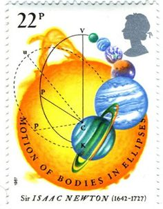 Literary Stamps: Newton, Sir Isaac (1642-1727)