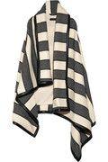 RAG & BONE  Leather-trimmed striped woven wool-blend blanket vest  $1,895