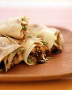 Asian-Style Chicken Wraps - Martha Stewart Recipes #chicken